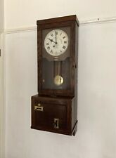 More details for vintage gledhill brook antique clocking in clock time recorder fusee 1942