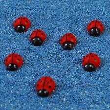 50pcs Polka Dot Red Ladybug Crafts DIY Flatback Decorations Mini Ornaments