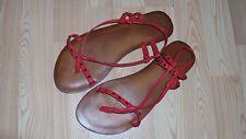 Red Metal Stud Sling Back Sandals Size 6