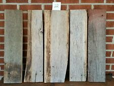 """5 pc RECLAIMED WEATHERED OAK  BARN LUMBER WOOD  CRAFTING 7/8 """" THICK FREE SHIP"""