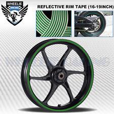 GREEN REFLECTIVE RIM TAPE WHEEL STRIPE MOTO BIKE AUTO DECAL STICKER 16 17 18 19