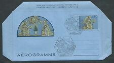 1982 VATICANO FDC AEREOGRAMMA DELLA ROBBIA