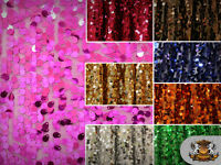 "Sequin Micro Teardrop Dangle Fabrics / 54"" Wide / Sold by the yard"