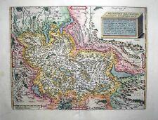 "1603 Ortelius (Tschudi) Map Switzerland ""Upside-Down"" Southern Orientation, Fine"