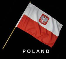 POLAND POLISH Hand Waver Flag- 30x45cm