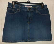 EXCELLENT WOMENS Abercrombie & Fitch DISTRESSED BLUE JEAN MINI SKIRT  SIZE 4