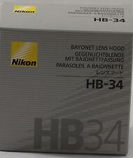 Nikon Genuine HB-34 Bayonet Lens Hood for 55-200mm DX Nikkor Lens HB34 NEW