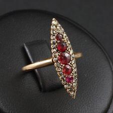 Antiker Diamant Rubin Ring ca. 0,65 ct.