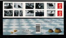 PM1 CATS & DOGS SELF ADHESIVE BARCODE BOOKLET 12 x first class stamps 2001