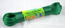 Wäscheleine Grün 30m mit Stahleinlage Wäsche Leine  Stahlseil Schnur extra stark