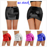 Sexy Women's Shiny Patent Leather Short Dress Tight Hip Mini Skirts Nightwear