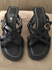 Easy Spirit CapeAnn Leather Sandals  size 6B Heel Comfy with free shipping