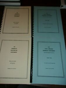 Jill Dixon THE DIAGNOSTIC PRESCRIPTIVE ASSESSMENT Total Language Assessment 1 2