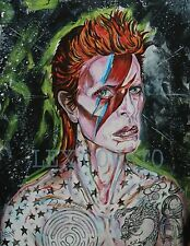 LEX outsider pop SuRReal ORIGINAL David Bowie TaTTOOEd ziGGy StardusT lowbrow