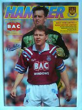 MINT 1991/92 West Ham United v Manchester United 1st Division