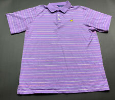 Men CLUBHOUSE COLLECTION Masters Purple Short Sleeve Polo Golf Shirt Size Large