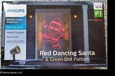 Motion Laser Projector, Dancing Santa, Indoor/Outdoor, Red/Green