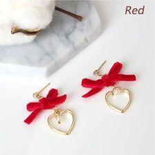 Hot Design Bow Elegant Retro Heart-shaped Stud Jewelry Earrings Women Fashion