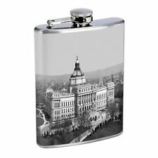 Washington D.C. D6 Flask 8oz Stainless Steel Hip Drinking Whiskey Monuments