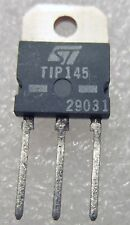 TIP145 ST DARLING POWER TRANSISTORS 10A 6V PNP Si TO-218 2 PC LOT