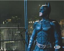 ACTOR CHRISTIAN BALE SIGNED 'THE DARK KNIGHT' BATMAN 8x10 PHOTO BECKETT BAS COA