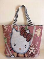 HELLO KITTY Tote Shoulder Bag large zipped shopper women girls GIFT