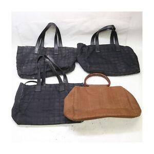 Chanel Nylon Straw Tote/Hand Bag 4 pieces set 525478