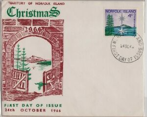 /NORFOLK IS 1966 Christmas FDC @JD2786