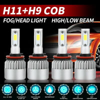 4x H11 H9 H8 LED Headlight Bulb Kit Low Beam Fog Light 2960W 6000K 785000LM Bulb