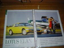 ESSAI DOSSIER 1997... LOTUS ELAN 1963 > 1975