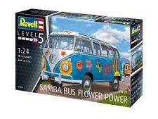 Revell 1:24 Samba De Volkswagen T1 Pouvoir Des Fleurs Voiture Modélisme Kit