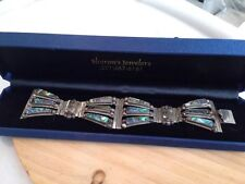 """Taxco Sterling Abalone Shell  7 """" Bracelet Mexico 925 signed & Marked RLS"""
