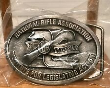 Vtg National Rifle Association ILA 20th Anniversary NRA 1980's Belt Buckle ID #