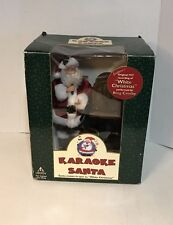 ANIMATED KARAOKE SANTA BING COSBY SINGS WHITE CHRISTMAS.ARMS AND BODY DON'T MOVE