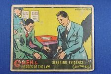 1936 Gum G-Men & Heroes of The Law - #82 Sleeping Evidence Awakes - G/VG Cond.