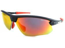 BLOC - FOX sports Sunglasses Matte Black-Red Rubbers/ Red Mirror Lenses XR761