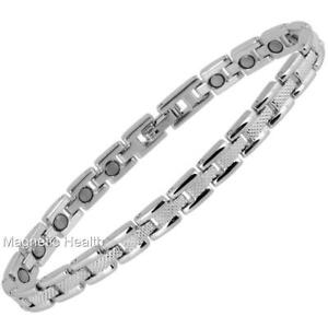 LADIES MAGNETIC HEALING ANKLET ELEGANT SILVER - ARTHRITIS PAIN RELIEF 78A