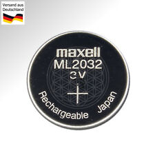 ML 2032 3 Volt Knopf Zelle aufladbar Batterie Rechargeable Battery Accu CR2032