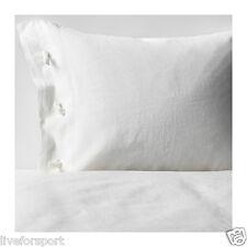 Ikea Linblomma Full/Queen Duvet Cover Pillowcase Off White Bedding 100% Linen