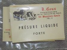 Scrabooking -( PRESURE LIQUIDE )  20 d'anciennes Etiquettes Pharmacie    N°2