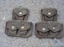 Pair of Italian 1908 Type Pattern Webbing Ammunition Pouches