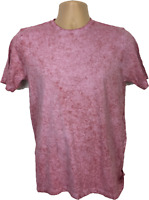 Mens T shirt Pink Top Was Effect stylish top 100% cotton brand new mens Small