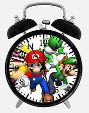 "Super Mario Bros. Alarm Desk Clock 3.75"" Room Office Decor W19 Nice For Gift"