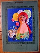 1931 Colorful Deco Style Gypsy Woman Pin Up Girl Picture Calendar Hammell