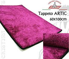 Tappeto ARTIC 60x100 cm Viola Bordato Effetto Brillante Lucido con Sottofondo