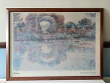 ATTRACTIVE  MONET. ARCREAUX FLEURIS 75cm x 55cm- BEAUTIFUL