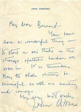 More details for vintage signed pre-printed letter - english playwright - john osbourne