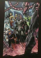 11x17 SIGNED by Jim Lee ART PRINT Justice League Batman Superman Wonder Woman