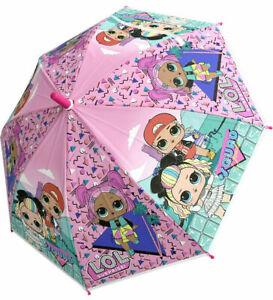 Children's Official LOL Surprise Umbrella Kids Girls Purple Pink Travel Brolly
