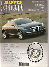 """REVUE MAGAZINE AUTOMOBILE """" AUTO CONCEPT """" N°57 HONDA ACCORD CITROEN C2 MAZDA RX"""